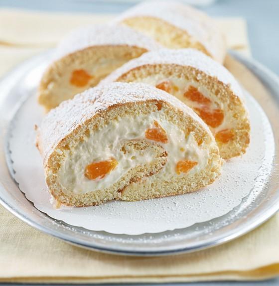 Mandarinen-Sahne-Rolle