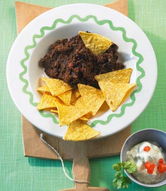 Mexikanisches Bohnenpürée