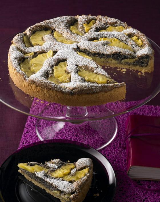 Mohn-Ananas-Tarte