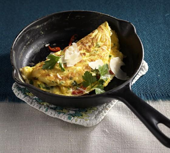 Omelette aglio olio