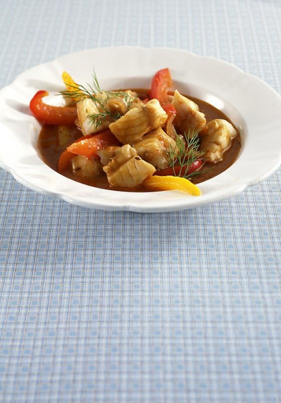 Paprika-Fisch-Gulasch