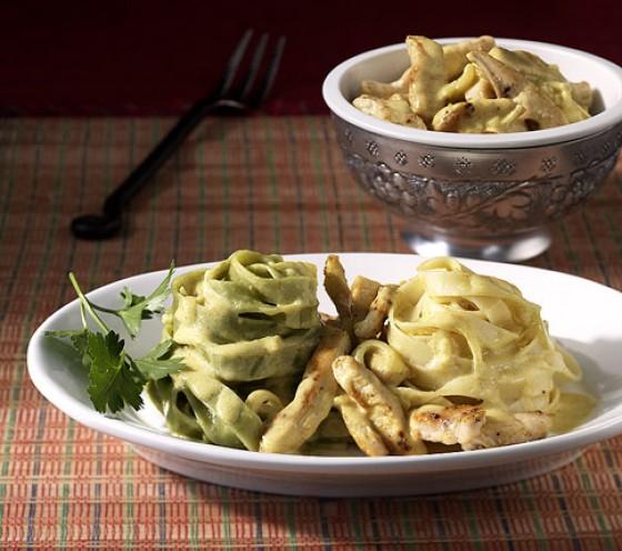 Pasta Stroh und Heu