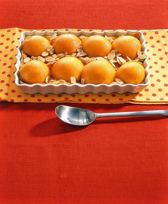 Pfirsich-Keks-Gratin