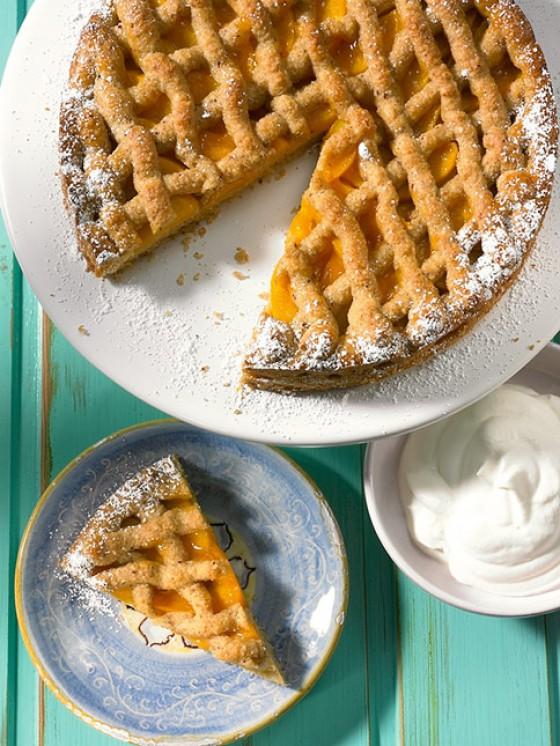 Pfirsich-Linzer-Torte