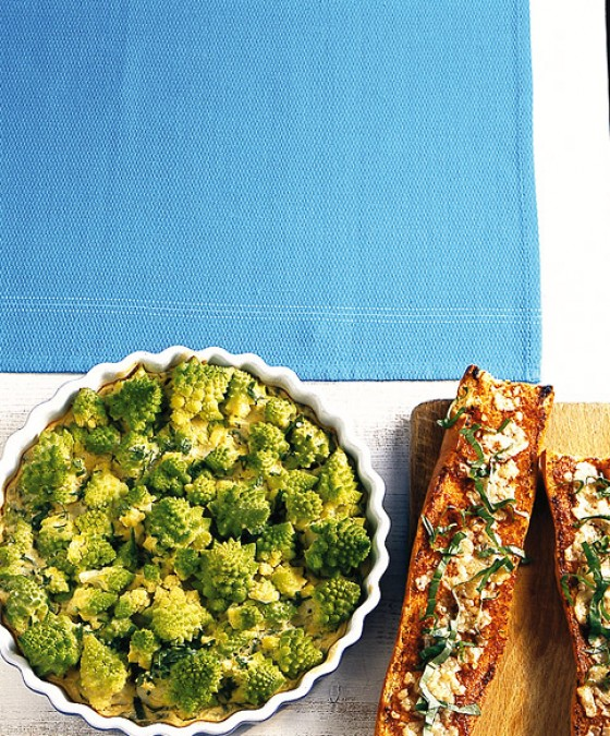 Romanesco-Quark-Gratin