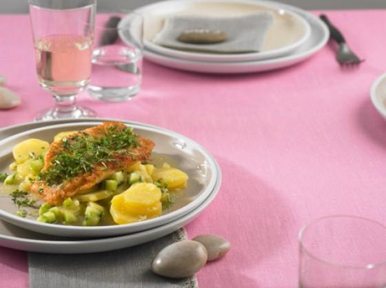 Rotbarsch mit Kartoffelsalat