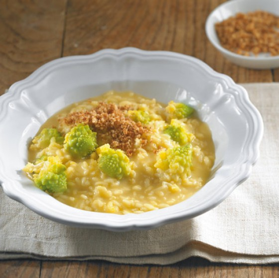 Safranrisotto mit Romanesco