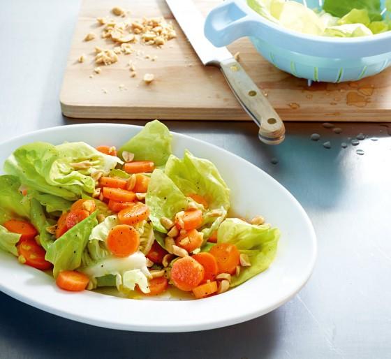 Salat mit Ingwermöhren
