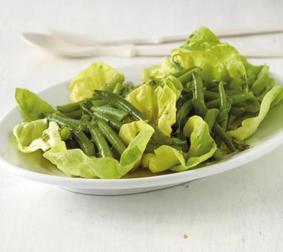 Salat mit grünen Bohnen