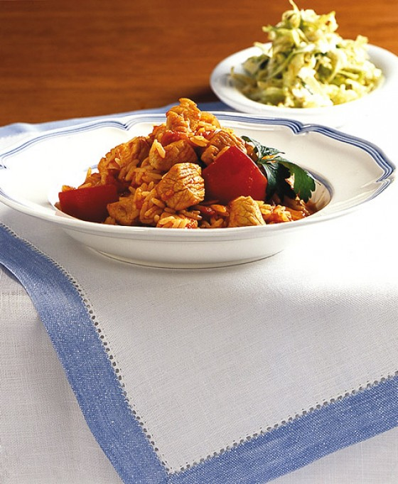 Serbisches Puten-Reisfleisch