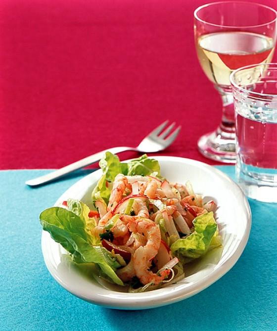 Shrimps-Radieschen-Salat