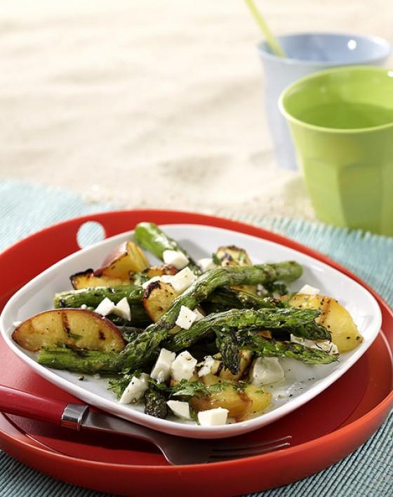 Spargel-Pfirsich-Salat