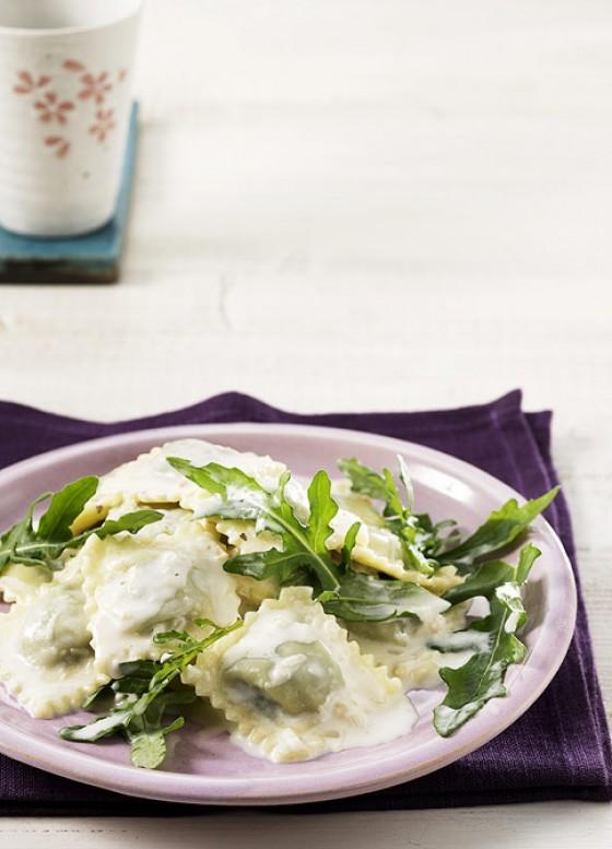 Spinat-Ravioli mit Zitrone
