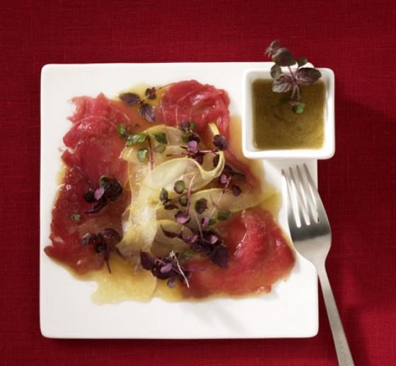 Thunfisch mit Birnenmarinade