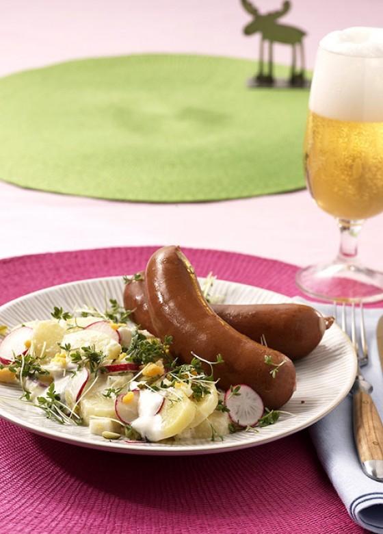Tims Kartoffelsalat mit Bockwurst