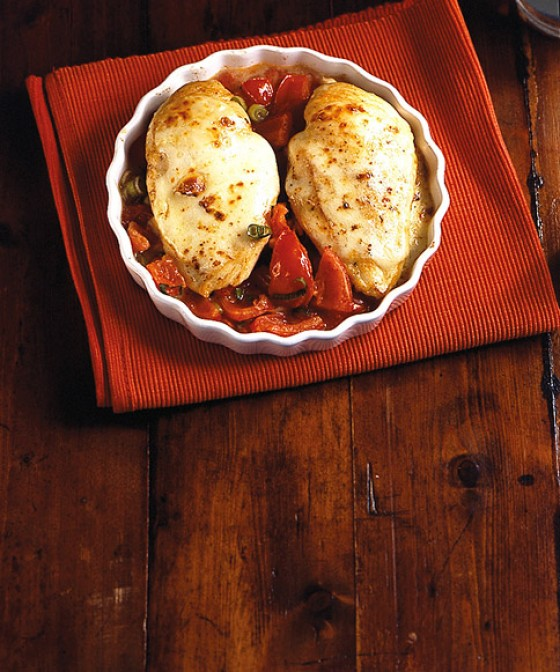 Tomaten-Mozzarella-Huhn