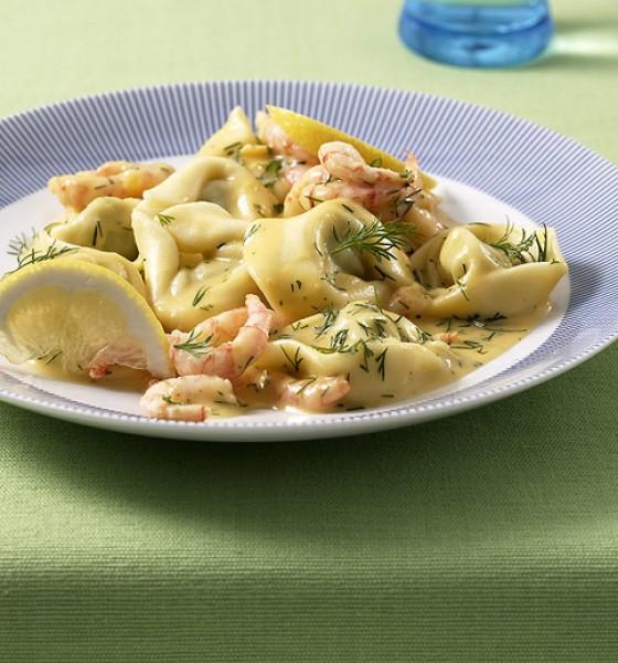 Tortelloni in Krebssauce