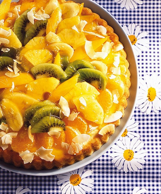 Tropischer Obstkuchen