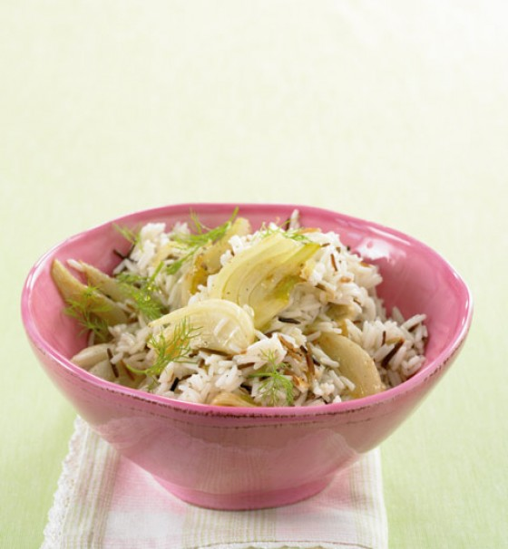Wildreis mit Fenchel