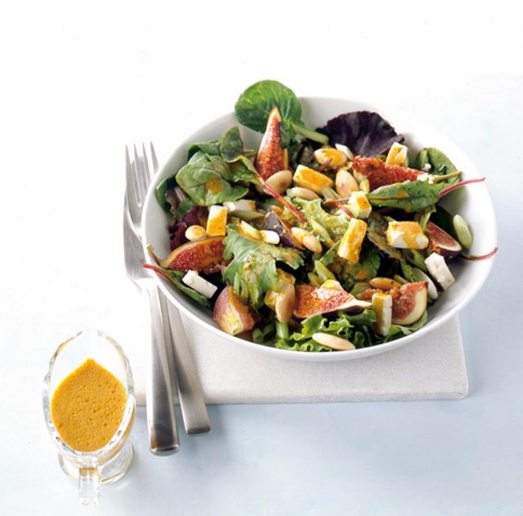 Herbstsalat Mit Sanddorndressing Rezept Essen Und Trinken