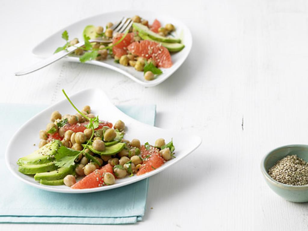 kichererbsen avocado salat rezept essen trinken. Black Bedroom Furniture Sets. Home Design Ideas