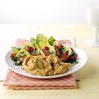 Hummus mit Salat