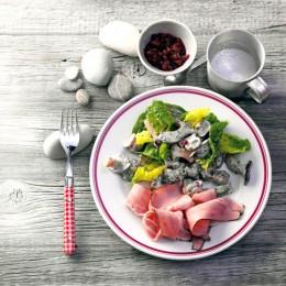 Pilzsalat mit Kräutersauce