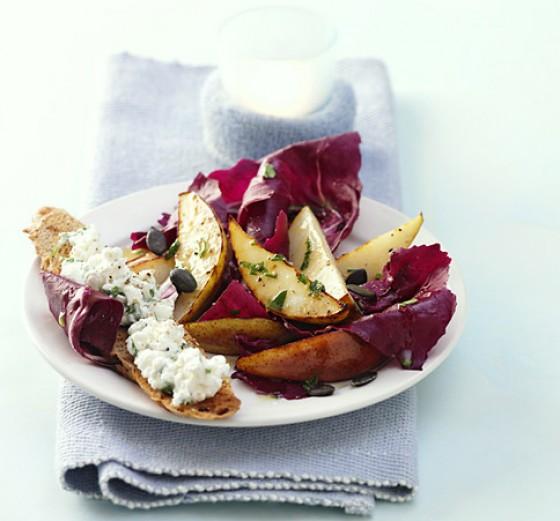 Birnen-Radicchio-Salat