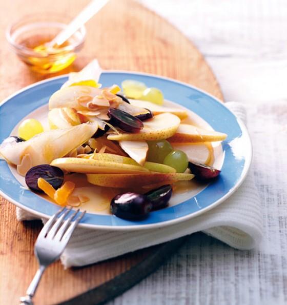 Birnen-Trauben-Salat