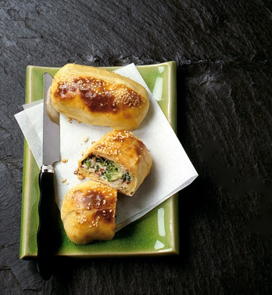 Broccoli-Quarktaschen