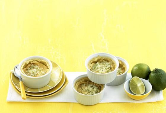 Cremiger Limettenpudding