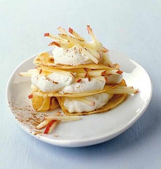 Crêpes mit Apfelquark