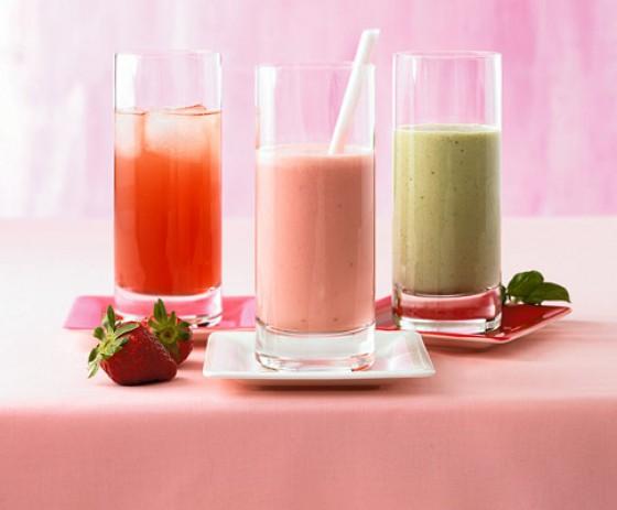 Erdbeer-Kokos-Drink