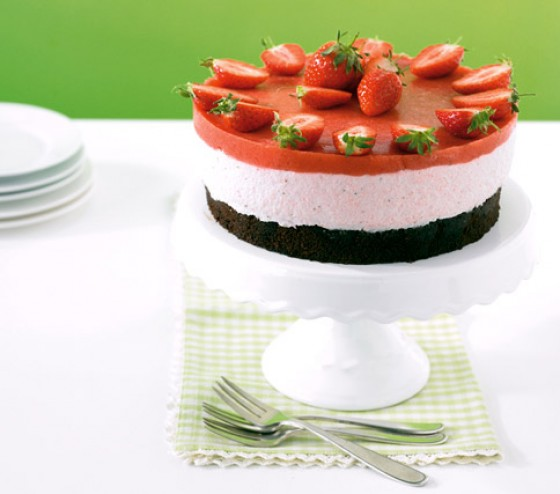 Espresso-Erdbeer-Torte