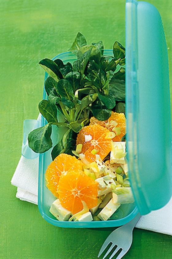 Feldsalat mit Mandarinen