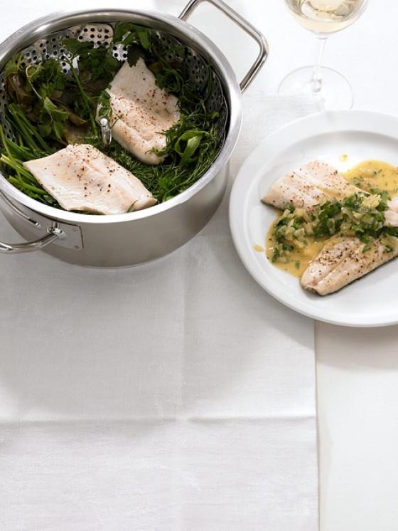 Rezepte: Dampfgaren mit Fisch - [ESSEN UND TRINKEN]