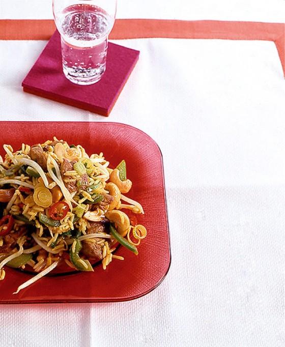 Gebratener Curryreis