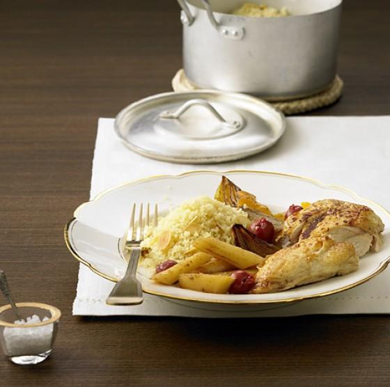 Hähnchenbrust auf Pastinakengemüse