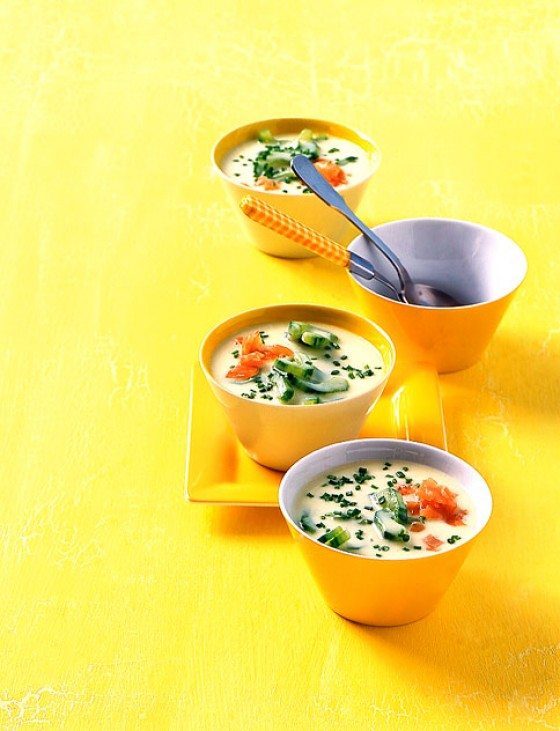 Kartoffel-Gurken-Suppe