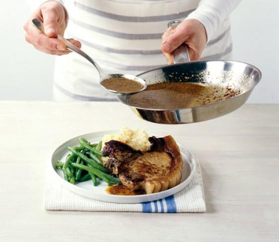 Kotelett mit Honig-Senfsauce