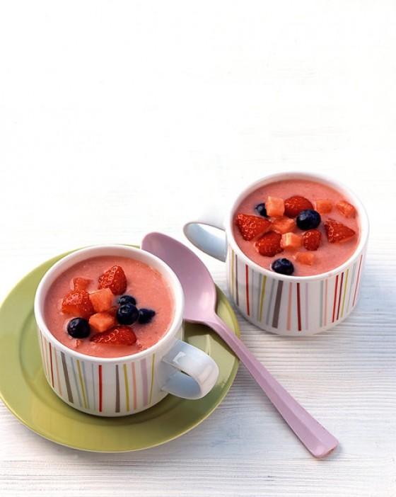 Melonen-Erdbeer-Gazpacho