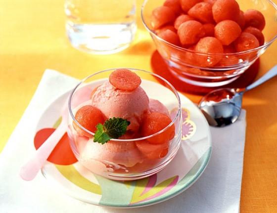 Melonen-Joghurteis