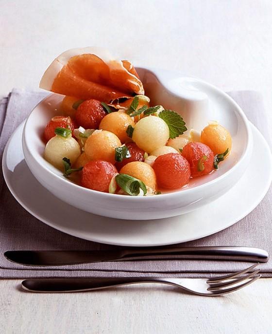Melonensalat mit Parmaschinken