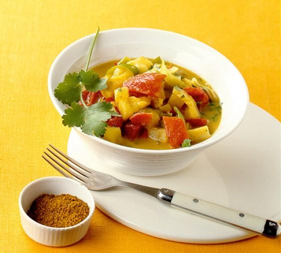 Paprikacurry mit Kokosmilch