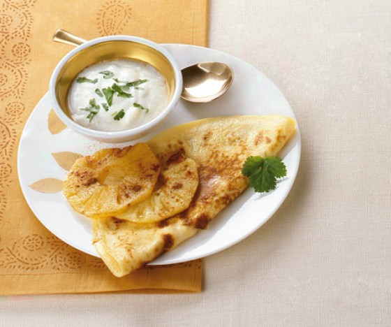 Pikante Ananas-Pfannkuchen