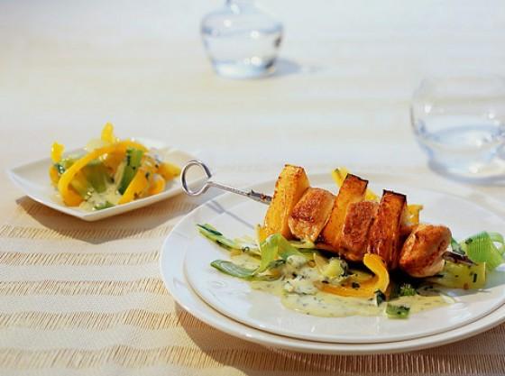 Puten-Ananas-Spieße