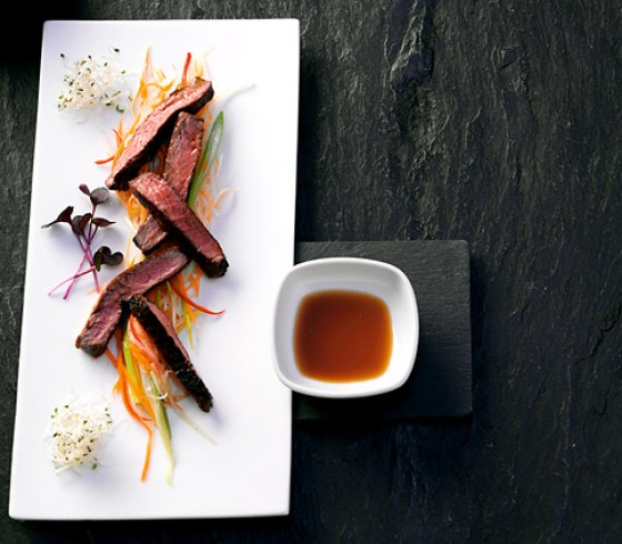 Rindfleisch mit Sojaglasur