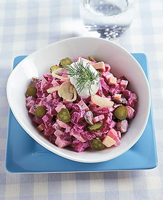 Rote-Bete-Wurstsalat