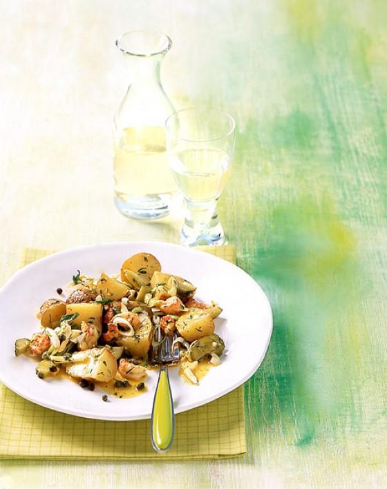 Salat von Ofenkartoffeln