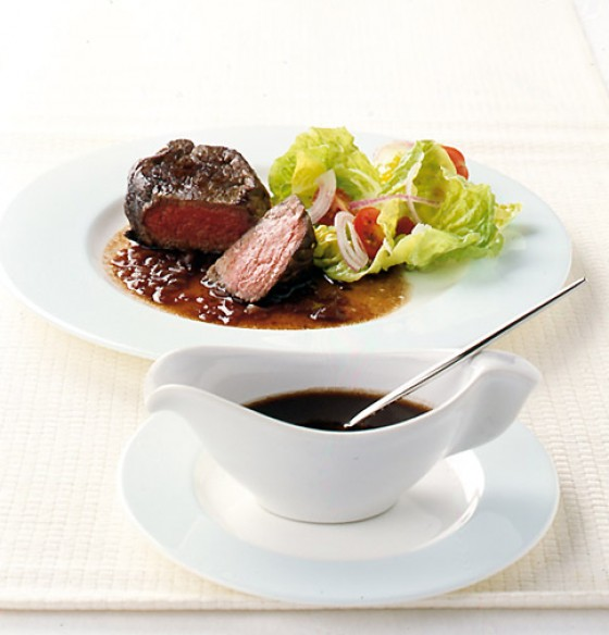 Schalotten-Rotwein-Sauce mit Filetsteak